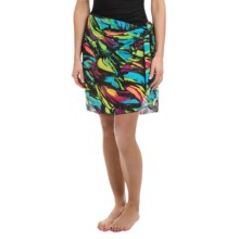 Longitude Tie-Front Mesh Sarong (For Women) in Modern Art - Closeouts