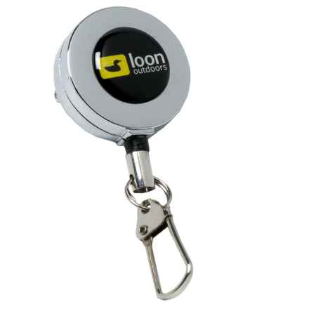 Loon Outdoors Zinger - Retractable Fishing Accessory Fastener in Silver - Closeouts