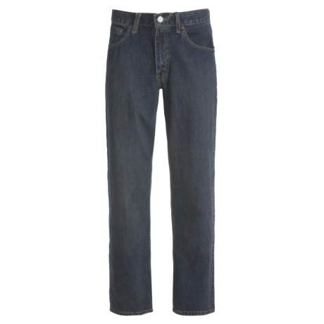Loose-Fit Denim Jeans - 5-Pocket (For Men) in Dirty Dark Denim