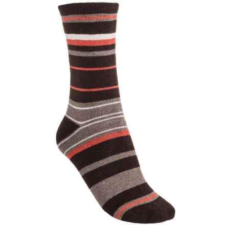 Lorenzo Donna Striped Socks - Cashmere Blend, Crew (For Women) in Brown - Closeouts