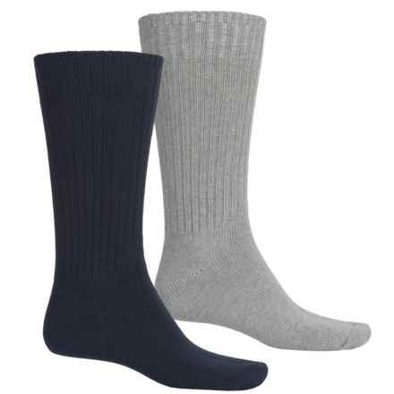 Lorenzo Uomo Outdoor Adventure Socks - 2-Pack, Crew (For Men) in Gray/Navy - Closeouts