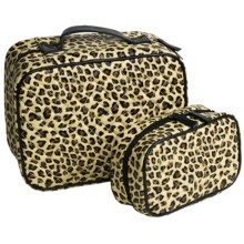 Lori Greiner Quilted Cosmetic Cases - Set of 2 in Leopard - Closeouts