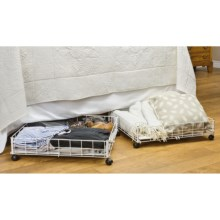 Lori Greiner Under-the-Bed Rollout Storage Organizer - Set of 2 in See Photo - Closeouts