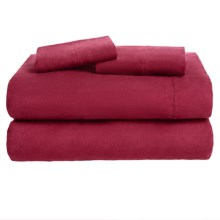 Loric Home Styles Luxury Flannel Sheet Set - King in Pomegranate - Overstock