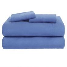 Loric Home Styles Luxury Flannel Sheet Set - King in Twilight Blue - Overstock