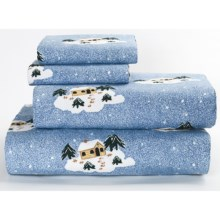 Loric Home Styles Printed Flannel Sheet Set - Twin in Winterlodge - Closeouts