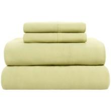 Loric Homestyles Jersey Knit Sheet Set - Full, Pima Cotton in Celedon - Overstock