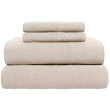 Loric Homestyles Jersey Knit Sheet Set - Queen, Pima Cotton in Pebble - Overstock