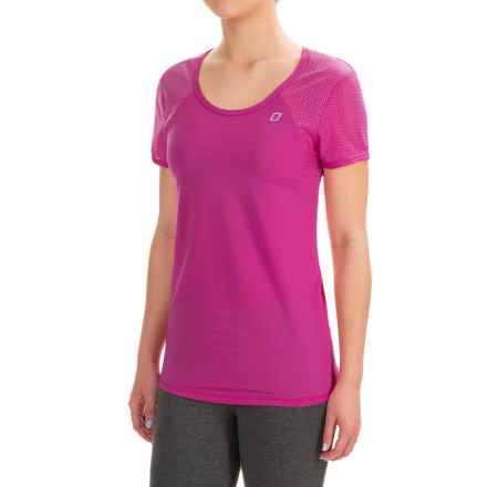 Lorna Jane Sasha Excel T-Shirt - Short Sleeve (For Women) in Boysenberry - Closeouts