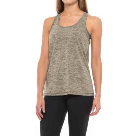 Lorna Jane Slouchy Gym Tank Top (For Women) in Khaki Marl - Closeouts