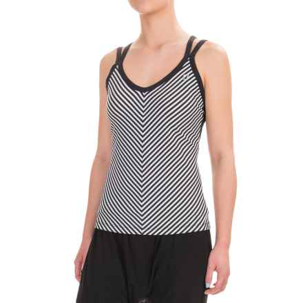 Lorna Jane St. Tropez Excel Tank Top (For Women) in Black/White - Closeouts