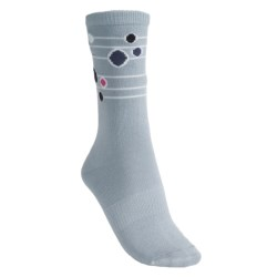 Lorpen Annie Socks - Modal-Cotton, Crew (For Women) in Light Blue