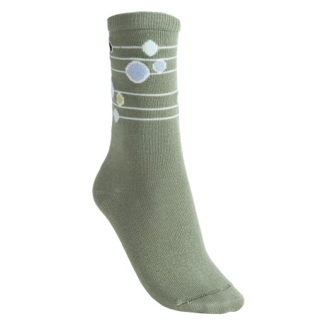 Lorpen Annie Socks - Modal-Cotton, Crew (For Women) in Moss