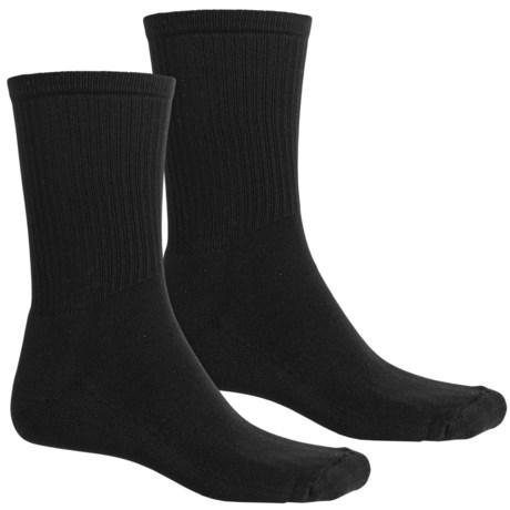 Lorpen Casual Micromodal® Socks - 2-Pack, Crew (For Men and Women) in Black