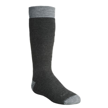 Lorpen Classic Ski Socks - Merino Wool, 2-Pack (For Kids and Youth) in Charcoal