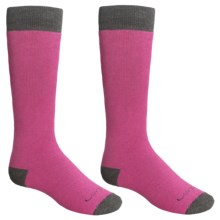 Lorpen Classic Ski Socks - Merino Wool, 2-Pack (For Kids and Youth) in Fuchsia - 2nds