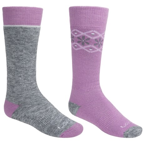 Lorpen Classic Ski Socks - Merino Wool, 2-Pack (For Little and BIg Kids) in Orchid/Grey Heather