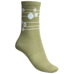 Lorpen Comfort Life Annie Socks - Modal-Cotton, Crew (For Women) in Celery
