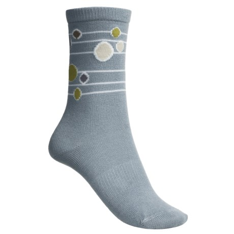 Lorpen Comfort Life Annie Socks - Modal-Cotton, Crew (For Women) in Periwinkle