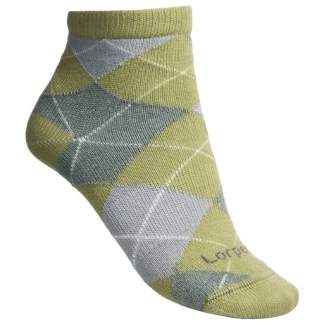 Lorpen Comfort Life Carly Ankle Socks - Modal (For Women) in Celery/Grey Heather