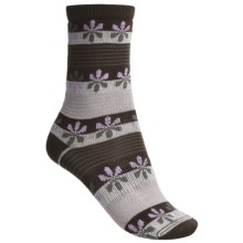 Lorpen Comfort Life Virginia Socks - Modal-Cotton, Crew (For Women) in Chocolate/Mauve - Closeouts