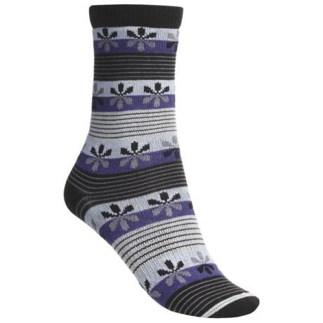 Lorpen Comfort Life Virginia Socks - Modal-Cotton, Crew (For Women) in Dark Purple/Black