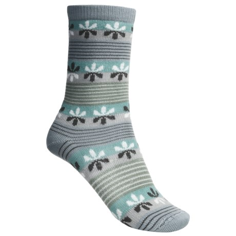 Lorpen Comfort Life Virginia Socks - Modal-Cotton, Crew (For Women) in Periwinkle/Teal