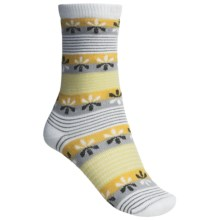 Lorpen Comfort Life Virginia Socks - Modal-Cotton, Crew (For Women) in White/Goldenrod - Closeouts