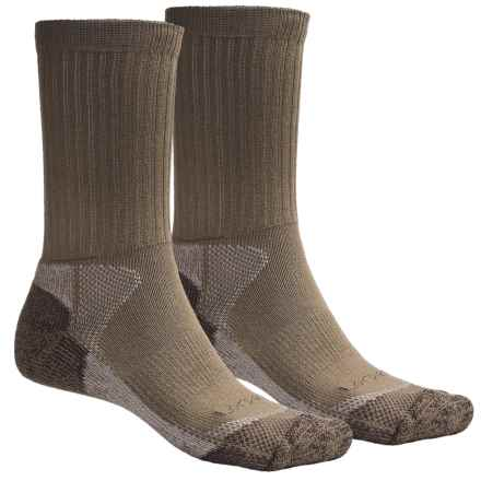 Lorpen CoolMax® Hunting Socks - 2-Pack, Crew (For Men and Women) in Khaki - 2nds