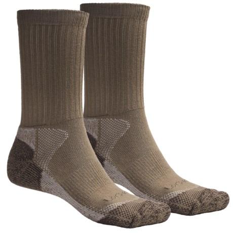 Lorpen CoolMax® Hunting Socks - 2-Pack, Crew (For Men and Women) in Khaki