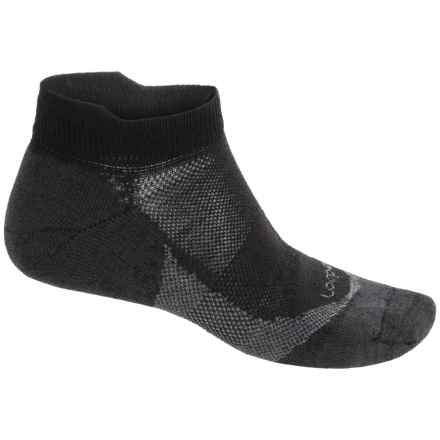 Lorpen CoolMax® Invisible Socks - Below the Ankle (For Men and Women) in Black - 2nds