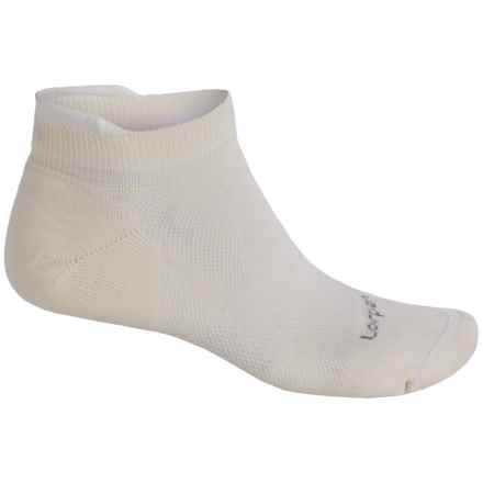 Lorpen CoolMax® Invisible Socks - Below the Ankle (For Men and Women) in White - 2nds