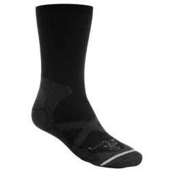 Lorpen CoolMax® Thin Trekking Socks - Crew (For Men and Women) in Black