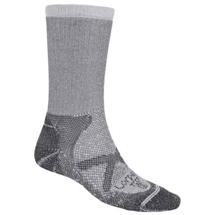 Lorpen CoolMax® Thin Trekking Socks - Crew (For Men and Women) in Grey - 2nds