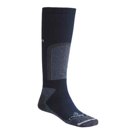 Lorpen Extreme Thermolite® Trekking Socks - 2-Pack, Over-the-Calf (For Men and Women) in Navy/Grey Heather - 2nds