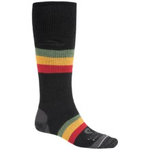 Lorpen Freeride and Snow Rasta Midweight Ski Socks - Merino Wool (For Men and Women) in Rasta - 2nds