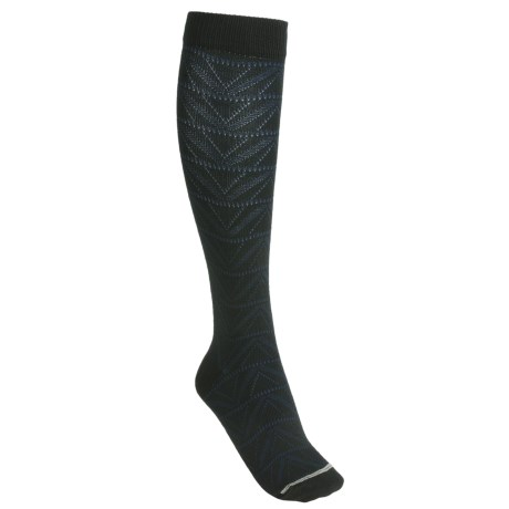 Lorpen Gabrielle Boot Socks - Modal, Over-the-Calf (For Women) in Black/Blue