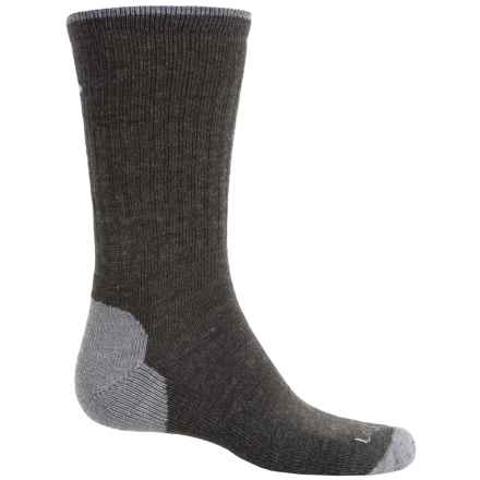 Lorpen Hiking Socks - Merino Wool, Crew (For Men and Women) in Dark Grey/Heather - Closeouts