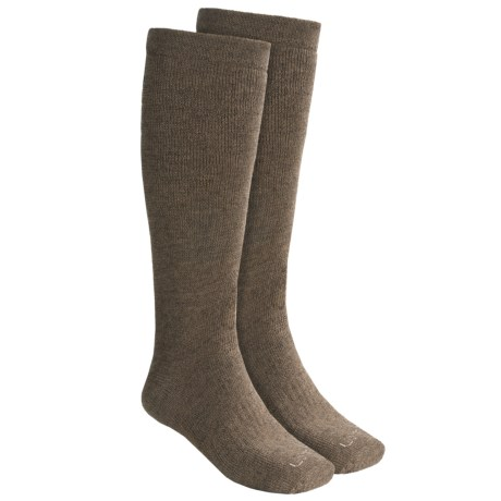 Lorpen Hunting Socks - 2-Pack, Merino Wool, Over-the-Calf (For Men and Women) in Brown