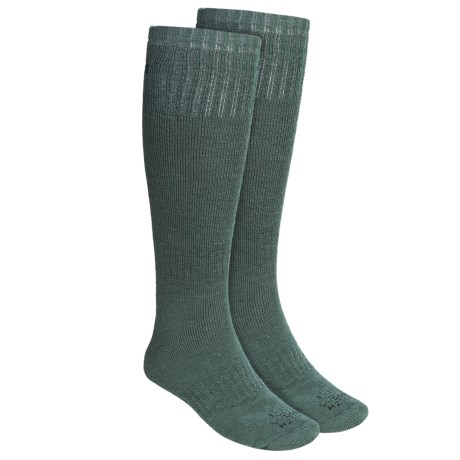 Lorpen Hunting Socks - 2-Pack, Merino Wool, Over-the-Calf (For Men and Women) in Conifer