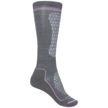 Lorpen Junior Ski Race Socks - Merino Wool, Over the Calf (For Little and Big Kids) in Medium Grey - Closeouts