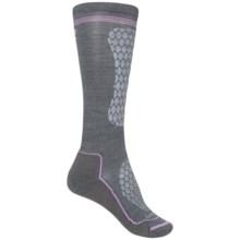 Lorpen Junior Ski Race Socks - Merino Wool, Over the Calf (For Little and Big Kids) in Medium Grey - Closeouts