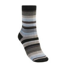 Lorpen Leah Socks - Crew (For Women) in Black/Periwinkle - 2nds