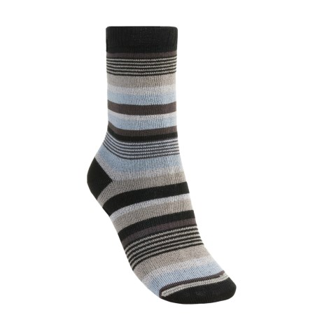 Lorpen Leah Socks - Crew (For Women) in Black/Periwinkle