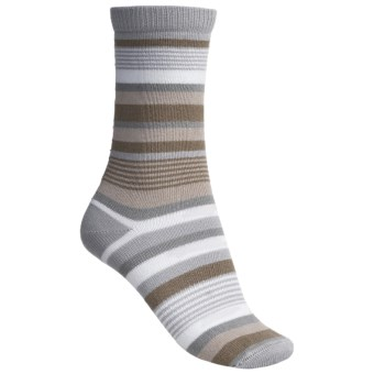 Lorpen Leah Socks - Crew (For Women) in Natural/Grey