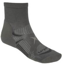 Lorpen Light Hiker Shorty Socks - Quarter Crew (For Men and Women) in Charcoal - Closeouts