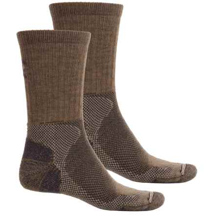 Lorpen Light Hiking Socks - 2-Pack, Merino Wool Blend, Crew (For Men and Women) in Brown/Brown - Closeouts