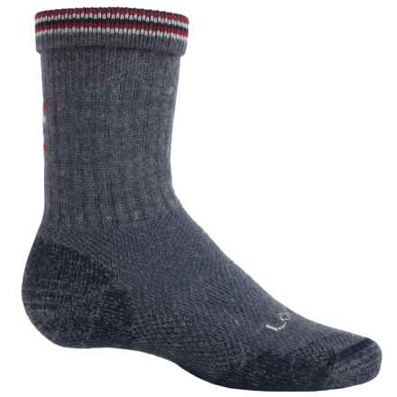 Lorpen Light Hiking Socks - Merino Wool, Crew (For Little and Big Kids) in Navy Heather - Closeouts