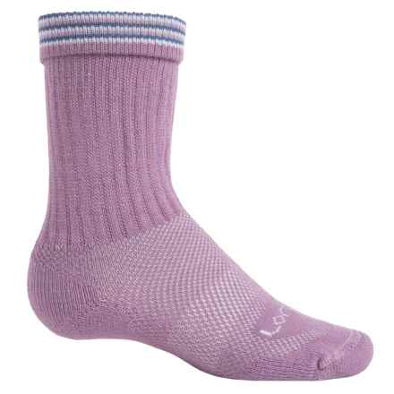 Lorpen Light Hiking Socks - Merino Wool, Crew (For Little and Big Kids) in Orchid - Closeouts