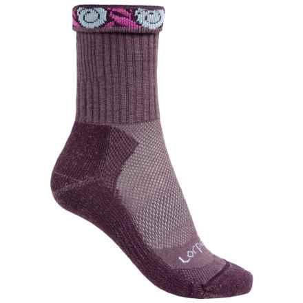 Lorpen Light Hiking Socks - Merino Wool, Crew (For Women) in Eggplant - 2nds